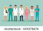 collection of medical staff.... | Shutterstock .eps vector #654378676