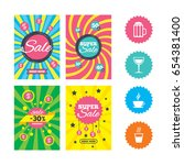 web banners and sale posters.... | Shutterstock .eps vector #654381400