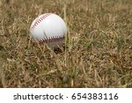 baseball ball | Shutterstock . vector #654383116
