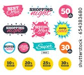 sale shopping banners. special... | Shutterstock .eps vector #654383680