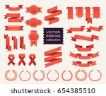 vector collection of decorative ... | Shutterstock .eps vector #654385510