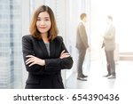 confident asian business woman... | Shutterstock . vector #654390436