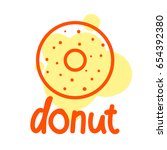 simple donut color label.... | Shutterstock .eps vector #654392380