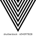 vector hipster triangle... | Shutterstock .eps vector #654397828