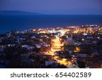 dahab is a small town on the... | Shutterstock . vector #654402589