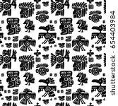 seamless vector maya pattern.... | Shutterstock .eps vector #654403984