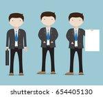 set of businessman character... | Shutterstock .eps vector #654405130