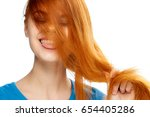 woman on isolated background    ... | Shutterstock . vector #654405286