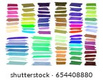 color highlight stripes ... | Shutterstock .eps vector #654408880