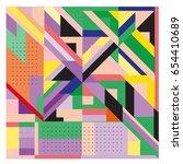 trendy geometric elements... | Shutterstock .eps vector #654410689