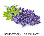 lavender with thyme | Shutterstock . vector #654411694
