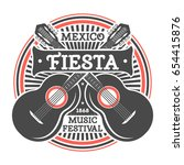 mexican fiesta vintage isolated ... | Shutterstock .eps vector #654415876