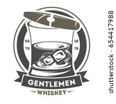 gentleman vintage isolated... | Shutterstock .eps vector #654417988