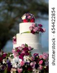 beautiful wedding cake  close... | Shutterstock . vector #654422854