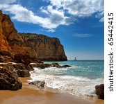 Algarve  beach - stock photo