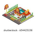 modern establish isometric... | Shutterstock .eps vector #654425158