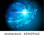 vector abstract background... | Shutterstock .eps vector #654429163