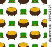 st.patrick's day seamless... | Shutterstock .eps vector #654429829
