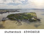 aerial view of govenors island... | Shutterstock . vector #654436018