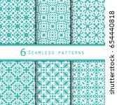 pack of vintage pattern design | Shutterstock .eps vector #654440818