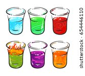 drinking glass  alcohol  shots  ... | Shutterstock .eps vector #654446110