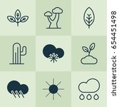 nature icons set. collection of ... | Shutterstock .eps vector #654451498