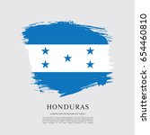 flag of honduras  brush stroke... | Shutterstock .eps vector #654460810