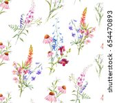 watercolor floral floral... | Shutterstock . vector #654470893