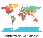 political map of world with... | Shutterstock .eps vector #654486559