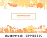 grunge brush vector creative... | Shutterstock .eps vector #654488530