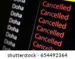 flight board display flight to... | Shutterstock . vector #654492364