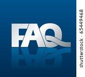 illustration of a faq... | Shutterstock .eps vector #65449468