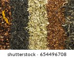 five stripes of different tea... | Shutterstock . vector #654496708