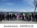 idomeni  greece   march 2  2016....   Shutterstock . vector #654501118