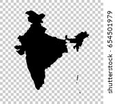 india map isolated on... | Shutterstock .eps vector #654501979