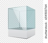 3d empty transparent glass... | Shutterstock .eps vector #654503764