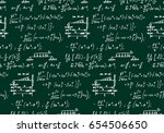 physical equations on school... | Shutterstock .eps vector #654506650
