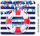 vintage striped vest background ... | Shutterstock .eps vector #654509239