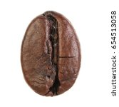 coffee bean isolated on white... | Shutterstock . vector #654513058