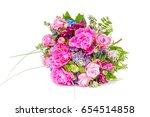 wedding bouquet made of pink... | Shutterstock . vector #654514858