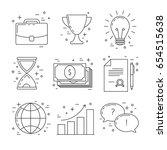 business line design icons ... | Shutterstock .eps vector #654515638