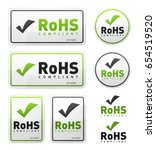 rohs compliant icons set ... | Shutterstock .eps vector #654519520