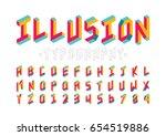 vector of modern abstract font... | Shutterstock .eps vector #654519886