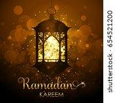 vector ramadan kareem... | Shutterstock .eps vector #654521200