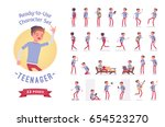 ready to use character set.... | Shutterstock .eps vector #654523270