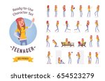 ready to use character set.... | Shutterstock .eps vector #654523279