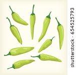 green chili vector design | Shutterstock .eps vector #654525793