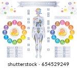 mineral vitamin supplement... | Shutterstock .eps vector #654529249