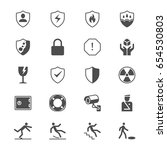 safety flat icons | Shutterstock .eps vector #654530803