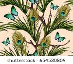 beautiful seamless vector... | Shutterstock .eps vector #654530809
